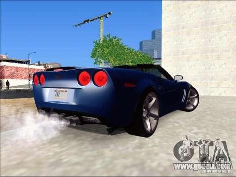 Chevrolet Corvette Grand Sport Cabrio 2010 for GTA San Andreas left view