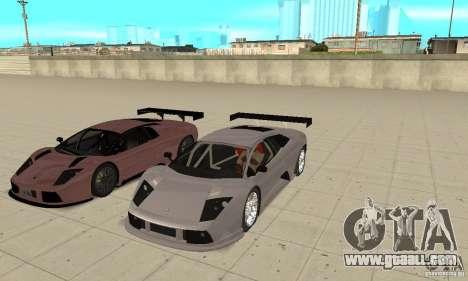 Lamborghini Murcielago R GT for GTA San Andreas interior