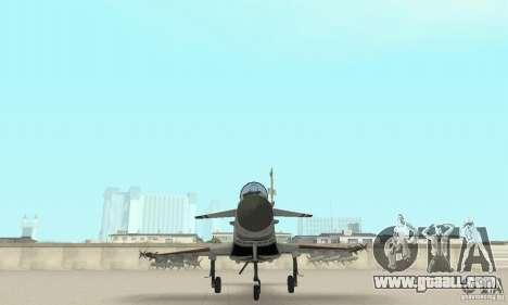 EF-2000 Typhoon V1.3 for GTA San Andreas bottom view