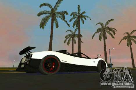 Pagani Zonda Cinque Roadster 2010 for GTA Vice City left view
