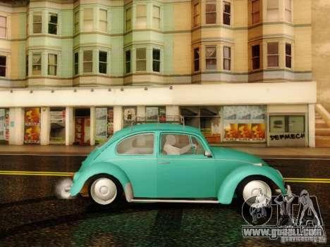 Volkswagen Beetle 1300 for GTA San Andreas back left view