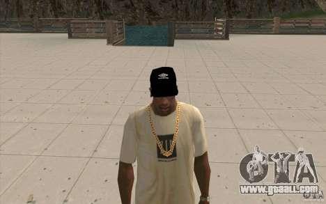 Umbro cap black for GTA San Andreas second screenshot