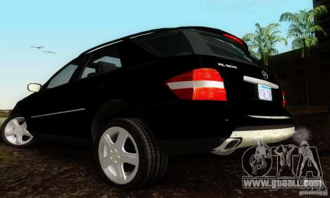 Mercedes-Benz ML500 for GTA San Andreas left view