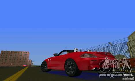 BMW Z4 V10 2011 for GTA Vice City back left view