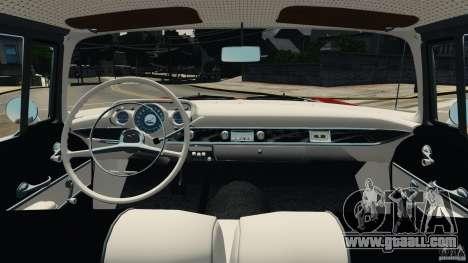 Chevrolet Bel Air Hardtop 1957 Light Tun for GTA 4 back view