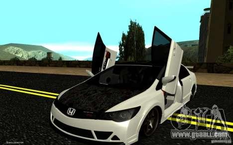 Honda Civic Type R for GTA San Andreas upper view
