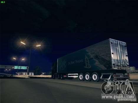 Trailer for Scania R620 Dubai Trans for GTA San Andreas upper view