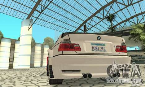 BMW M3 Tunable for GTA San Andreas interior