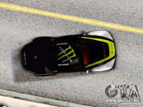 Citroen GT Gymkhana for GTA San Andreas back view