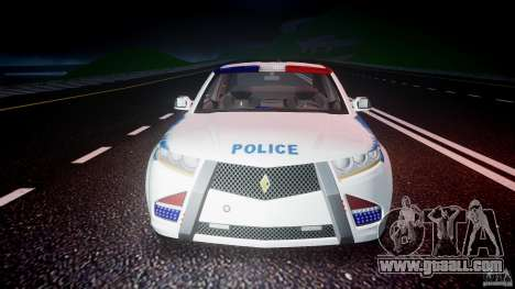 Carbon Motors E7 Concept Interceptor NYPD [ELS] for GTA 4 bottom view