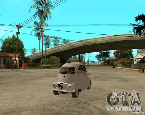 BMW Isetta for GTA San Andreas back left view