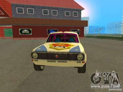 Volga GAZ 24-10 Rally for GTA San Andreas right view