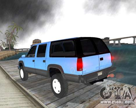 Chevrolet Suburban 1996 for GTA Vice City left view
