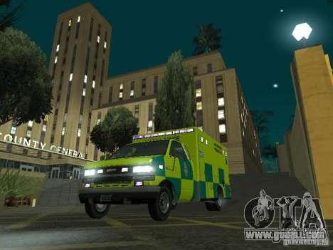 London Ambulance for GTA San Andreas back view