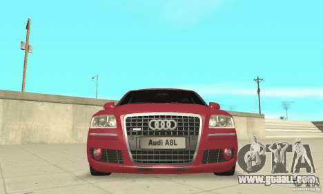 Audi A8L 4.2 FSI for GTA San Andreas bottom view