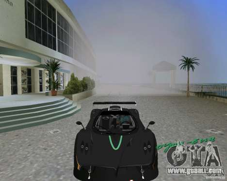 Pagani Zonda R for GTA Vice City back left view
