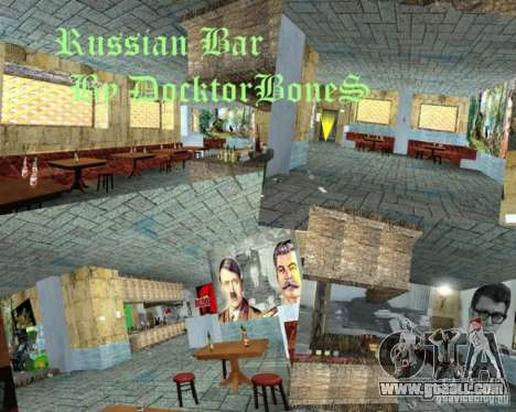 English bar in Gantone in the style of the USSR for GTA San Andreas