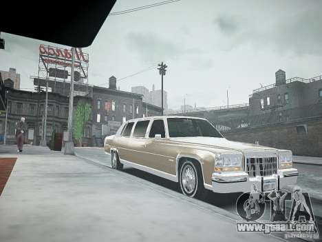 Cadillac Fleetwood 1985 for GTA 4 right view