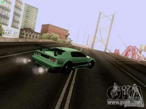 Lotus Esprit V8 for GTA San Andreas inner view