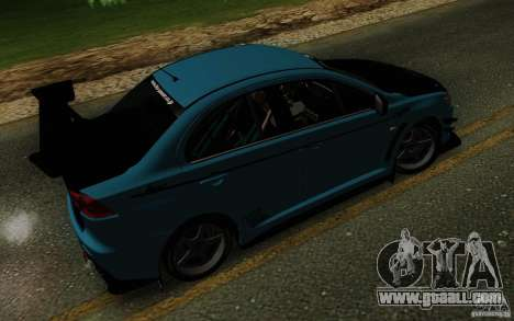 Mitsubishi Lancer Evolution X Tunable for GTA San Andreas upper view