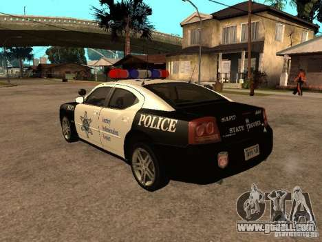 Dodge Charger RT Police for GTA San Andreas left view