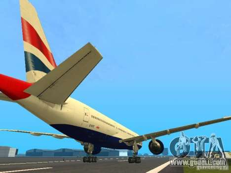 Boeing 777-200 British Airways for GTA San Andreas right view