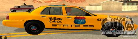 Ford Crown Victoria 2003 Taxi for state 99 for GTA San Andreas left view