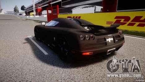 Koenigsegg CCXR Edition for GTA 4 back left view