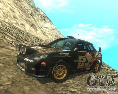 Subaru Impreza WRX STI DIRT 2 for GTA San Andreas side view