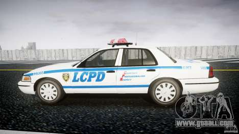 Ford Crown Victoria Police Department 2008 LCPD for GTA 4 left view