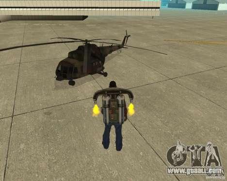 Pak air transport for GTA San Andreas back view