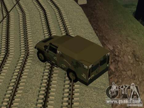 Hummer H2 Army for GTA San Andreas right view