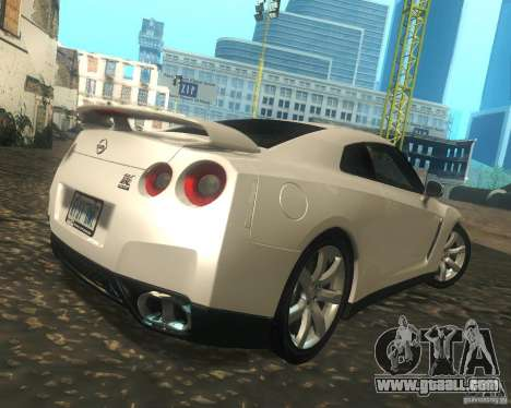 Nissan GTR R35 Spec-V 2010 Stock Wheels for GTA San Andreas right view