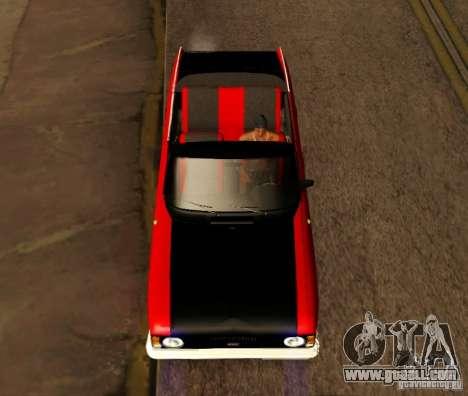 Moskvich 412 Cabrio for GTA San Andreas back left view