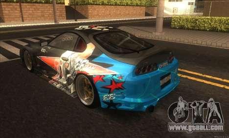 Toyota Supra Evil Empire for GTA San Andreas right view