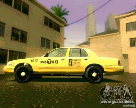 Ford Crown Victoria 2003 NYC TAXI for GTA San Andreas back left view