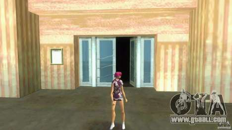 Girl Player mit 11skins for GTA Vice City