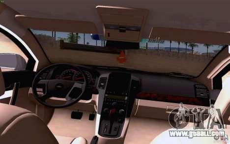 Chevrolet Captiva Police for GTA San Andreas inner view