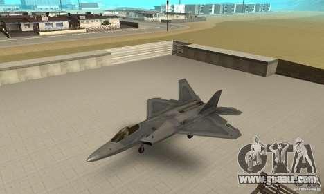 F-22 Grey for GTA San Andreas