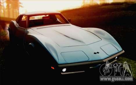 Chevrolet Corvette C3 Stingray T-Top 1969 for GTA San Andreas