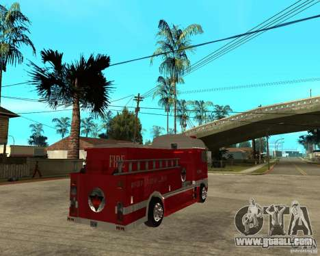 DAF XF 530 Fire for GTA San Andreas back left view