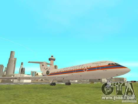 Yak-42 EMERCOM of Russia for GTA San Andreas back left view