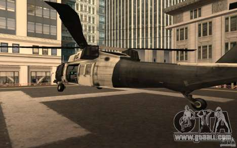 Black Hawk from BO2 for GTA San Andreas back left view