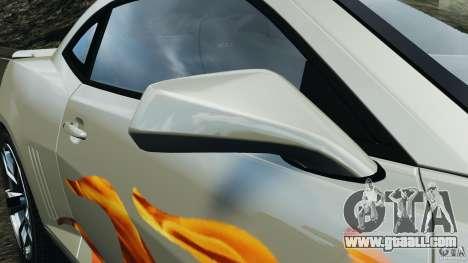 Chevrolet Camaro ZL1 2012 v1.0 Flames for GTA 4 upper view