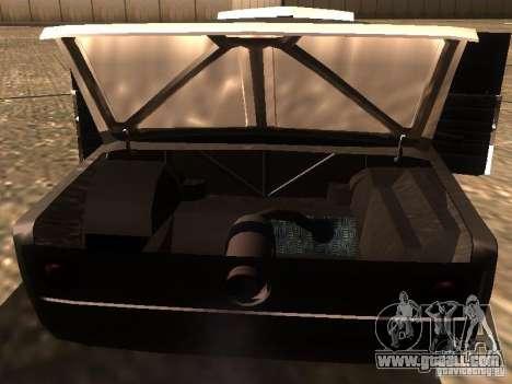 VAZ 2106 Drag Racing for GTA San Andreas bottom view