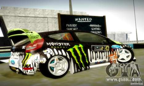 Ford Fiesta Gymkhana 4 for GTA San Andreas upper view