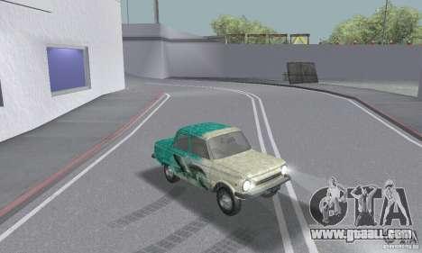 ZAZ 968 m tattered for GTA San Andreas inner view