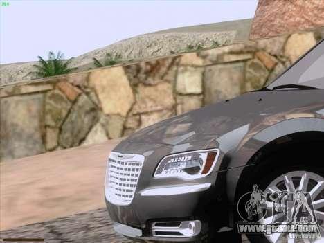 Chrysler 300 Limited 2013 for GTA San Andreas interior