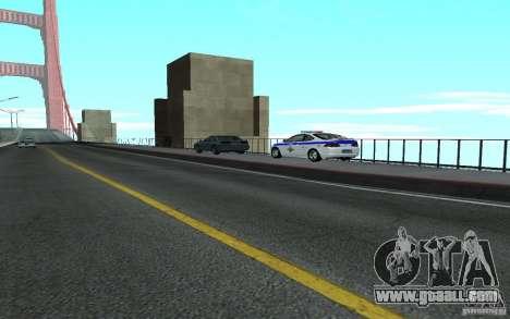 Police on the bridge of San Fiero_v. 2 for GTA San Andreas third screenshot
