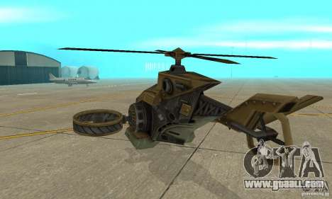 A helicopter from the game TimeShift Brown for GTA San Andreas right view